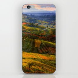 Tuscany, italian wineyards iPhone Skin