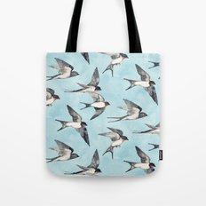 Blue Sky Swallow Flight Tote Bag