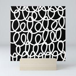 Chalkboard / White on Black Mini Art Print