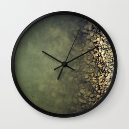 Rocks and water Wall Clock