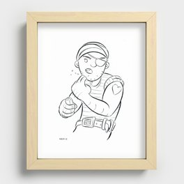 Stowaway Pirate - ink Recessed Framed Print