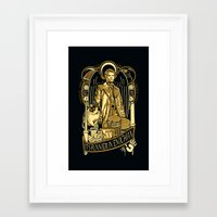 castiel Framed Art Prints featuring Castiel by Tracey Gurney