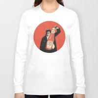 vegetarian Long Sleeve T-shirts featuring Vegetarian Vampire by Karolis Butenas