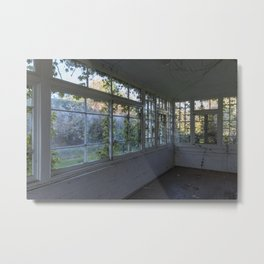 Colourful Overgrown Greenhouse Metal Print