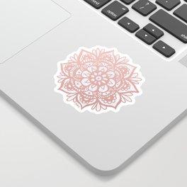 Rose Gold Mandalas on Marble Sticker