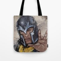 magneto Tote Bags featuring Magneto. by Emiliano Morciano (Ateyo)