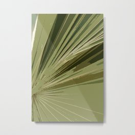 The Green Tones Of A Palm Frond Metal Print