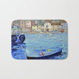 Lonely boat Bath Mat