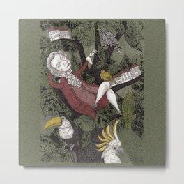 Wolfgang Amadeus Mozart--Seeing the Music Metal Print
