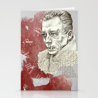 camus Stationery Cards featuring Camus - The Stranger by Nina Palumbo Illustration