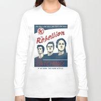 propaganda Long Sleeve T-shirts featuring The Rebellion - Propaganda by Head Glitch