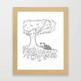 Sleeping Tree Framed Art Print