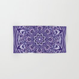 Great Purple Mandala Hand & Bath Towel