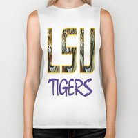 decal Biker Tanks featuring LSU NEW DECAL by The Greedy Fox