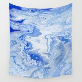 Wintry Fairy Land: Acrylic Pour Painting Wall Tapestry