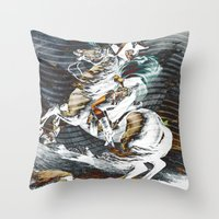 napoleon Throw Pillows featuring Napoleon by FakeFred