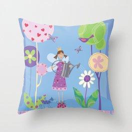 Fairy in the Garden Throw Pillow