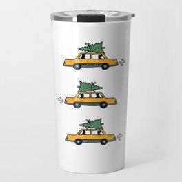 Christmas Cabs, New York Travel Mug