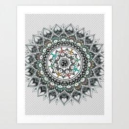 """Om"" Psychedelica Mandala Art Print"