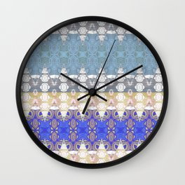 Sweet Lovely Intricate Boho Blues Lace Detail Wall Clock