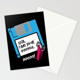 USB, I am Your Father | Retro Floppy Disk Stationery Cards