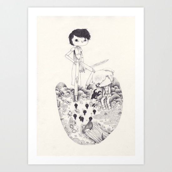 Smurf Art Print