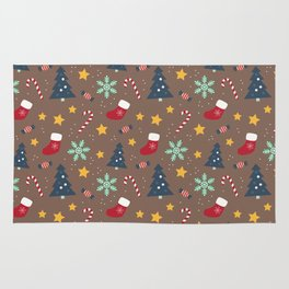 It's Christmas Time Colourful Pattern II Rug
