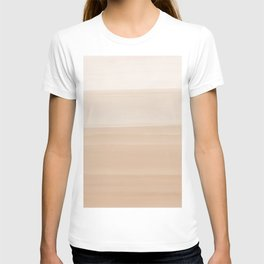 Touching Warm Beige Watercolor Abstract #1 #painting #decor #art #society6 T-shirt