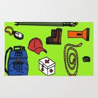 hiking Area & Throw Rugs featuring Hiking by Jonny Penn
