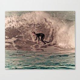 Ocean Beach Surfer Boy Canvas Print
