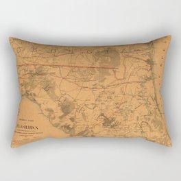 Vintage Map of Northern Florida (1864) Rectangular Pillow