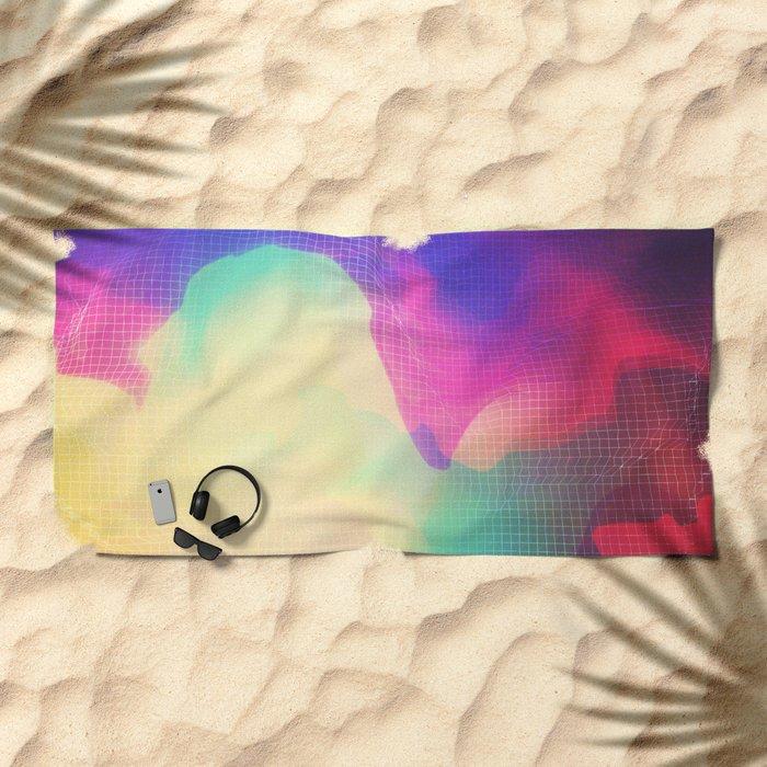 Glitch 13 Beach Towel