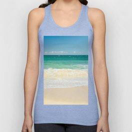 beach blue Unisex Tank Top