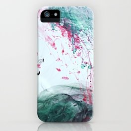 Raspberry Ocean Ink Fluid iPhone Case