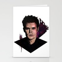 wesley bird Stationery Cards featuring Paul Wesley by DijaDalmaArt