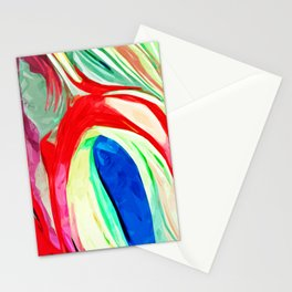 Abstract Lily Stationery Cards