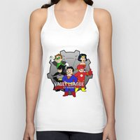 league Tank Tops featuring Vault League by jcdope