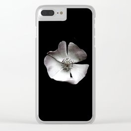 A delicate and sheer rosehip. Clear iPhone Case