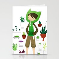 plants Stationery Cards featuring Plants by Zennore