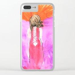 Back Bone Clear iPhone Case