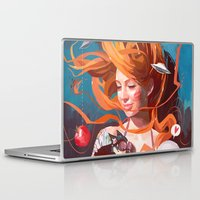 gravity Laptop & iPad Skins featuring GRAVITY by Javier G. Pacheco