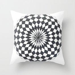 Spheric Chess Throw Pillow
