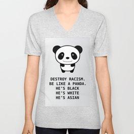 panda-racism Unisex V-Neck