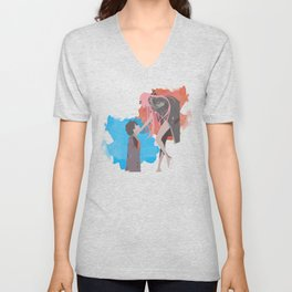 DARLING in the FRANXX Minimalist (Hiro and Zero Two) Unisex V-Neck