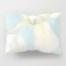 White Iris Pillow Sham