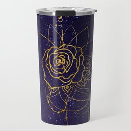Gold Galaxy I Create Myself/Bad Wolf Travel Mug