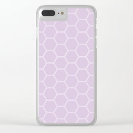 Honeycomb Light Purple #288 Clear iPhone Case