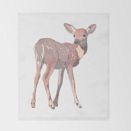 Baby Deer Art Throw Blanket