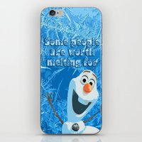 olaf iPhone & iPod Skins featuring OLAF by DisPrints