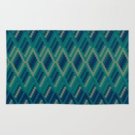 Vintage Diamond Pattern V2 Rug